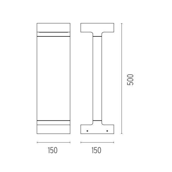 Flos Casting T 150x500 sokkellamp LED 3000K