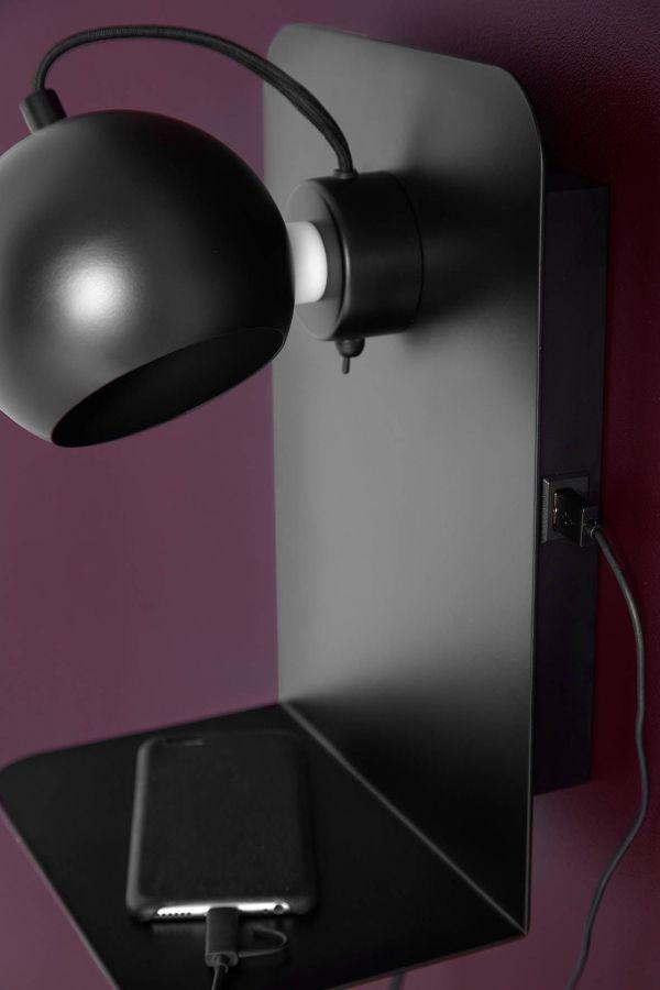 Frandsen Ball wandlamp met usb-poort