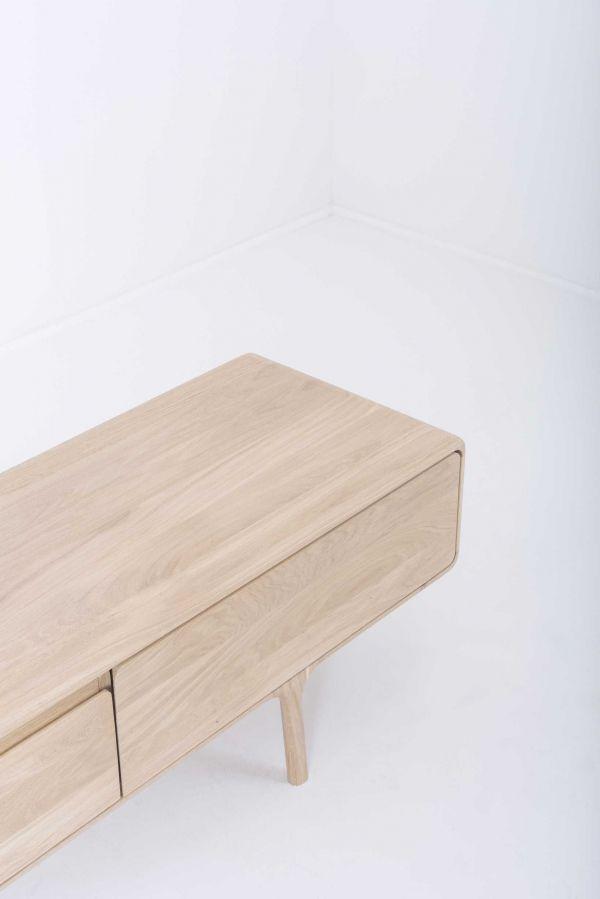 Gazzda Fawn dressoir 3 lades 220x45 whitewash