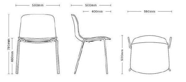 Hay About a Chair AAC17 gestoffeerde stoel