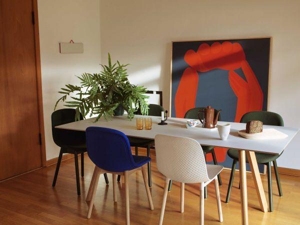 Hay Copenhague tafel CPH30 gelakt eiken 200x90 eetkamerset + 6 AAC12 stoelen