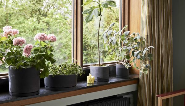 Hay Plant pot with saucer m