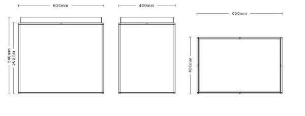 Hay Tray salontafel side 60x40