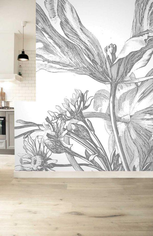 KEK Amsterdam Engraved Flowers III behang