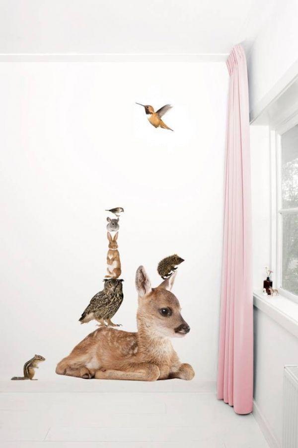 KEK Amsterdam Forest Friends Deer XL & Friends set 7 muursticker