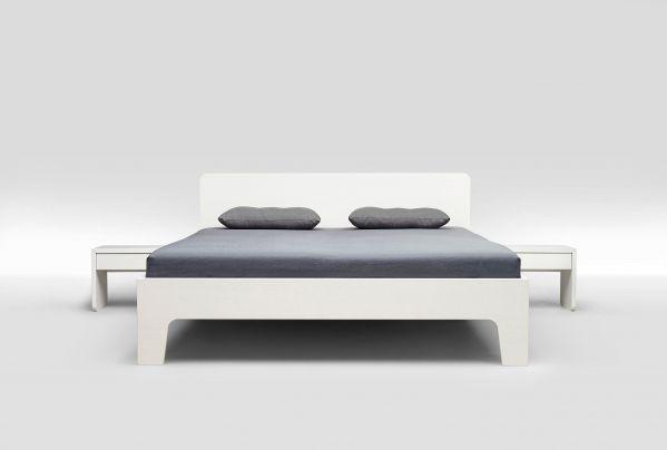 Loof Pure bed met hoofdbord 180x200