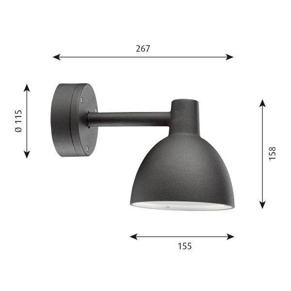 Louis Poulsen Toldbod 155 Outdoor wandlamp