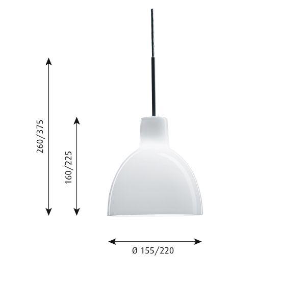 Louis Poulsen Toldbod 155 hanglamp glas