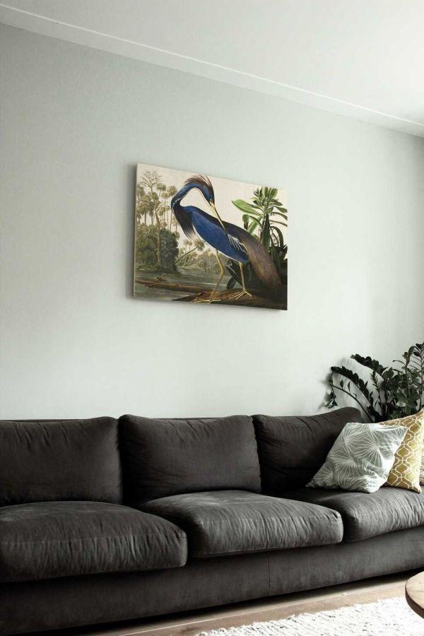 KEK Amsterdam Louisiana Heron wandpaneel hout