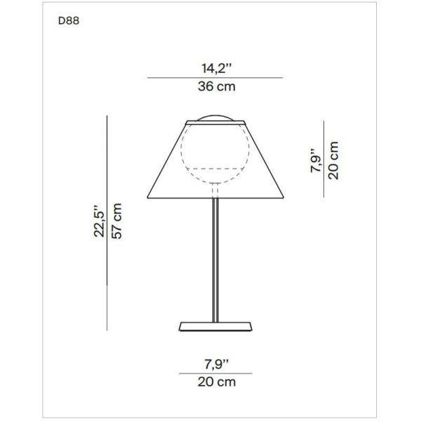 Luceplan Cappuccina tafellamp LED