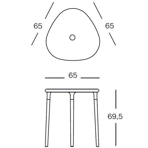 Magis Air-Table triangel tuintafel 65x65