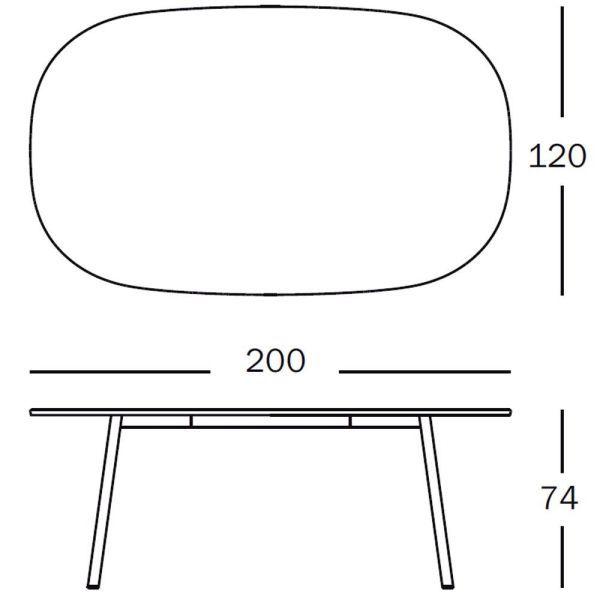 Magis Déjà-vu Table tafel wit rechthoek medium 200x120