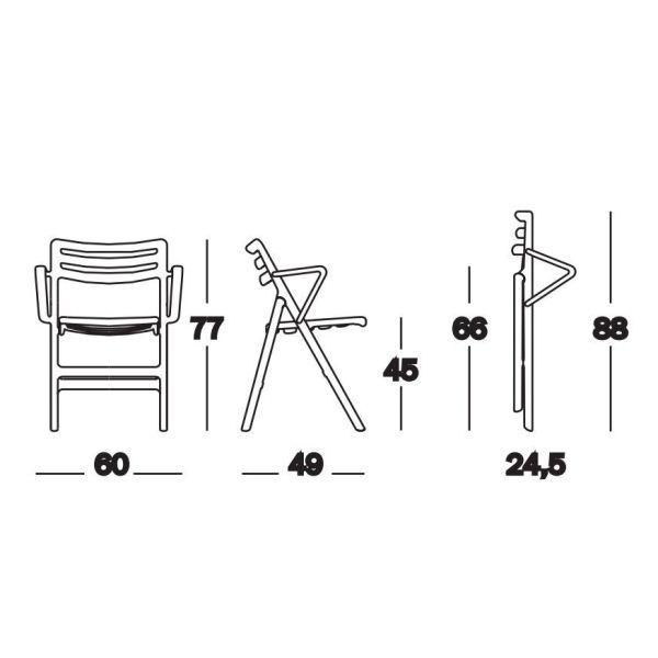 Magis Folding Air-Chair tuinstoel met armleuningen