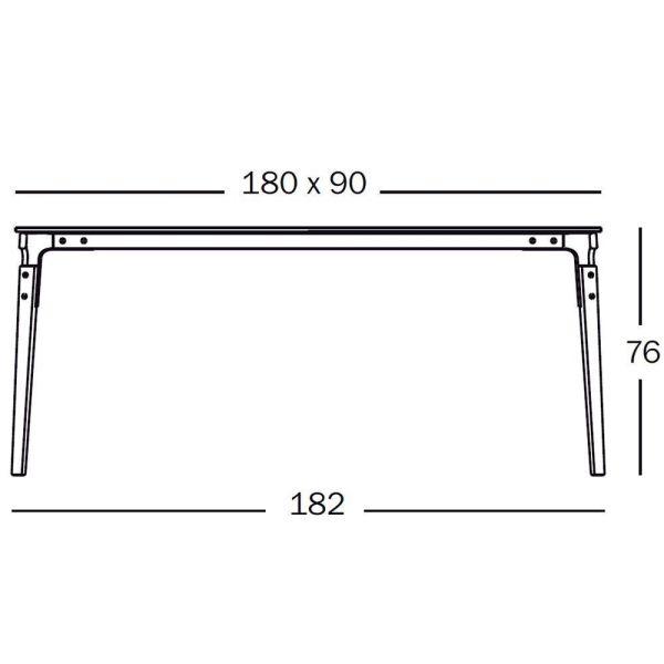 Magis Steelwood tafel 182x90