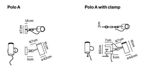 Marset Polo A wandlamp LED plug-in