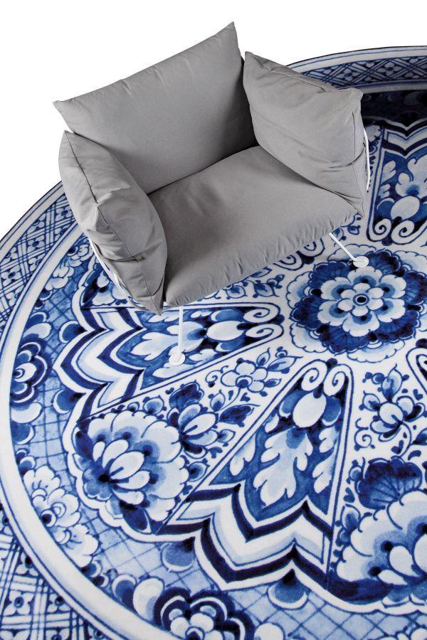 Moooi Carpets Delft Blue Plate vloerkleed 250