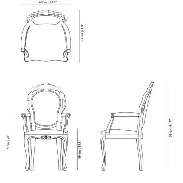 Moooi Smoke Dining Armchair stoel