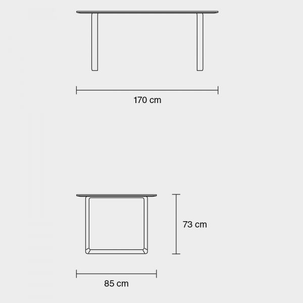 Muuto 70/70 tafel 170x85