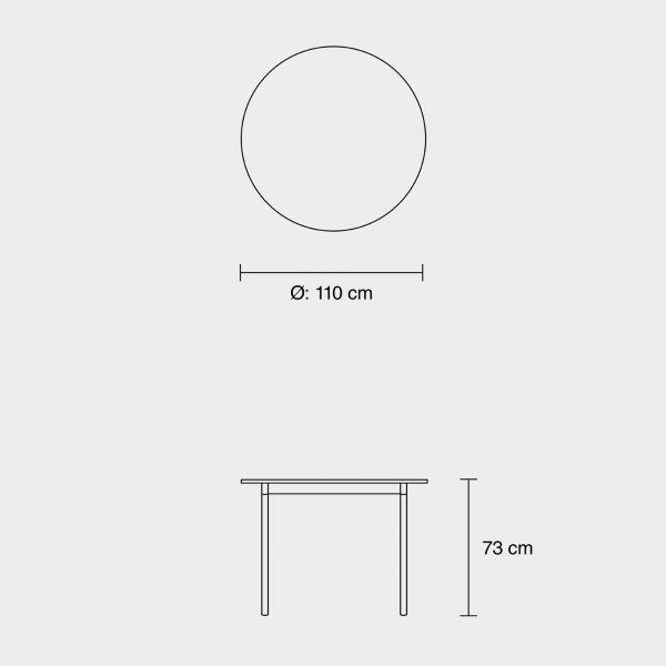 Muuto Base tafel rond wit laminaat 110
