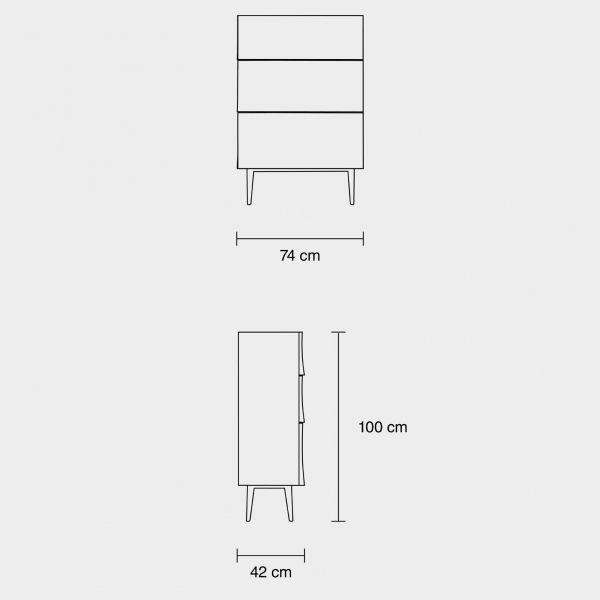 Muuto Reflect drawer ladekast