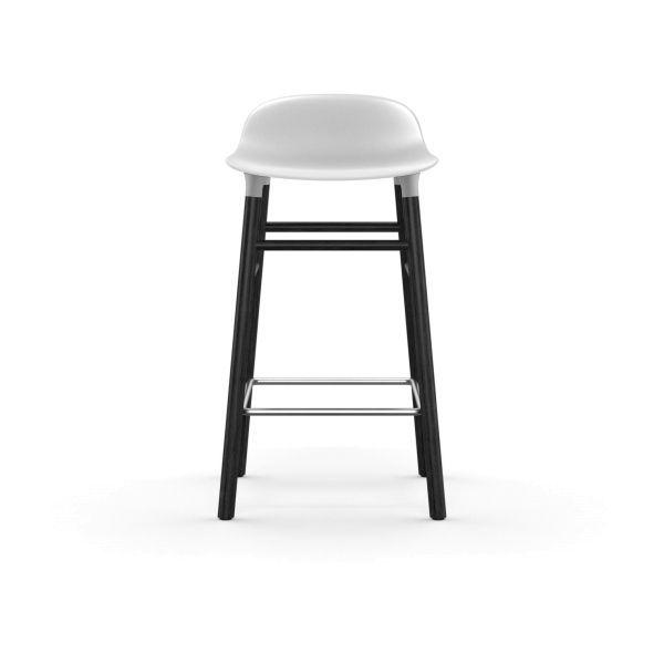Normann Copenhagen Form Barstool barkruk 65cm met zwart onderstel