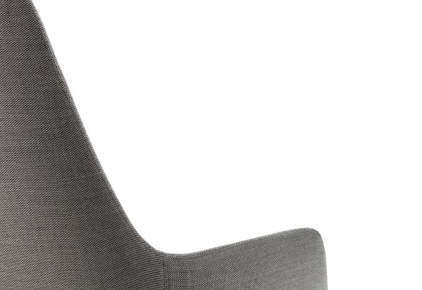 Normann Copenhagen Era Lounge Chair High loungestoel met zwart stalen onderstel