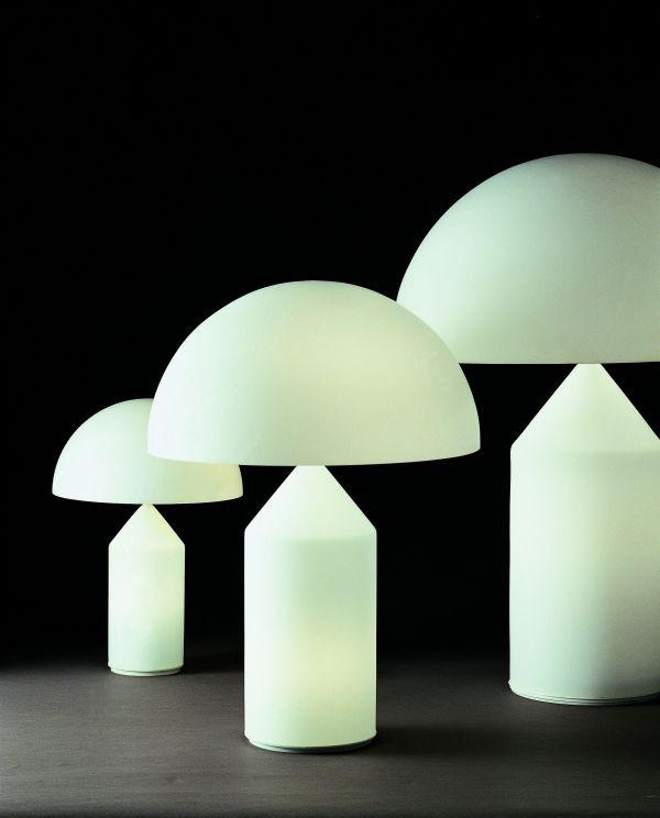 Oluce Atollo 70 Glass tafellamp