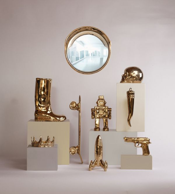 Seletti My Spaceship Gold Edition woondecoratie