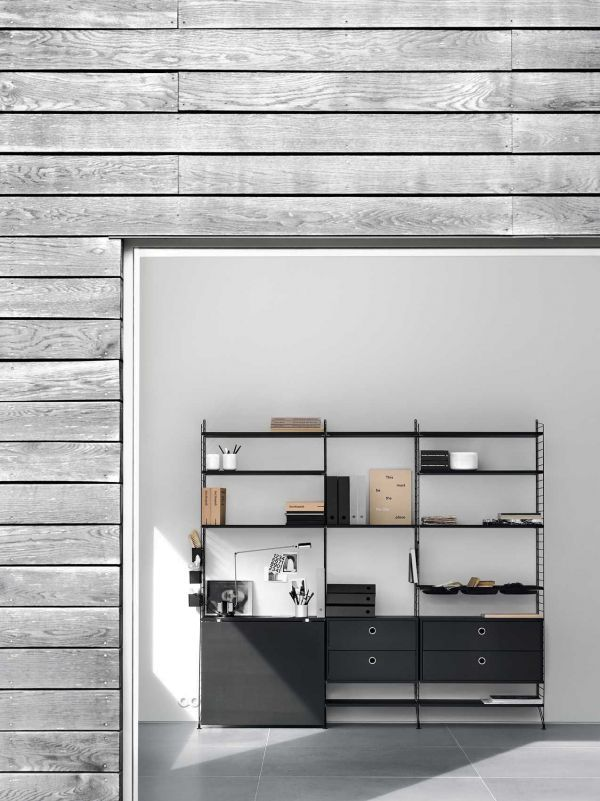 String Cabinet with two drawers 78 x 30 x 42 cm