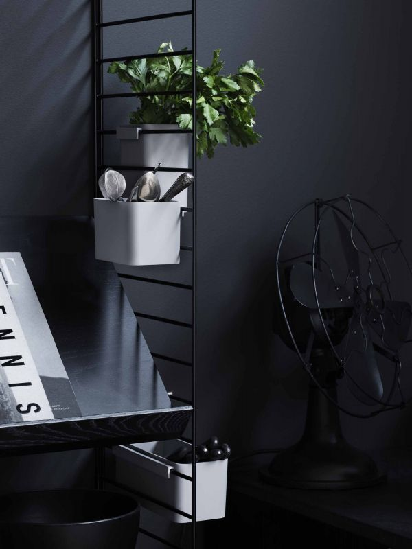 String Kast met tafel small, zwart