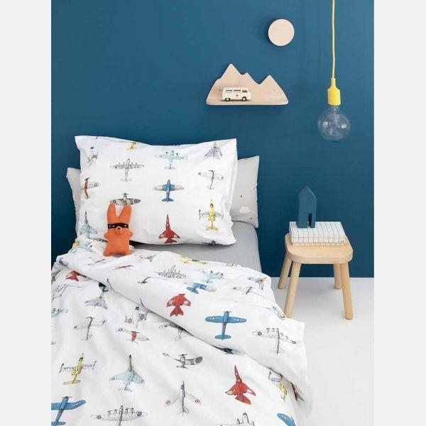 Studio Ditte Vliegtuigjes dekbedovertrek 120x150