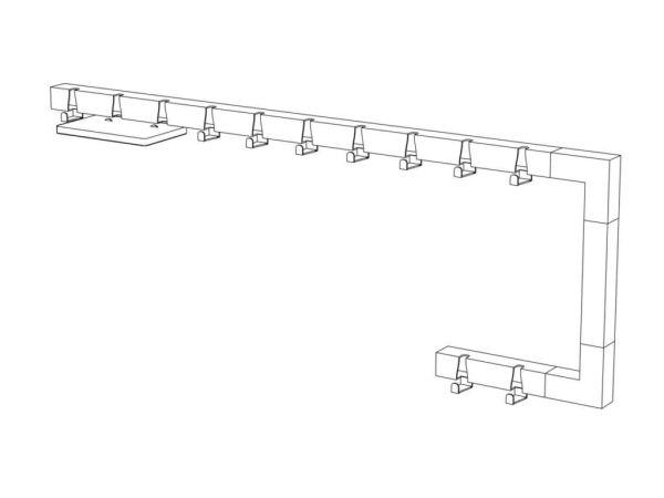 Vij5 Coatrack By The Meter kapstok met 2 haken