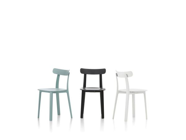 Vitra All Plastic stoel met tapijtglijders