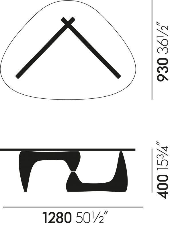 Vitra Coffee Table salontafel 128x93