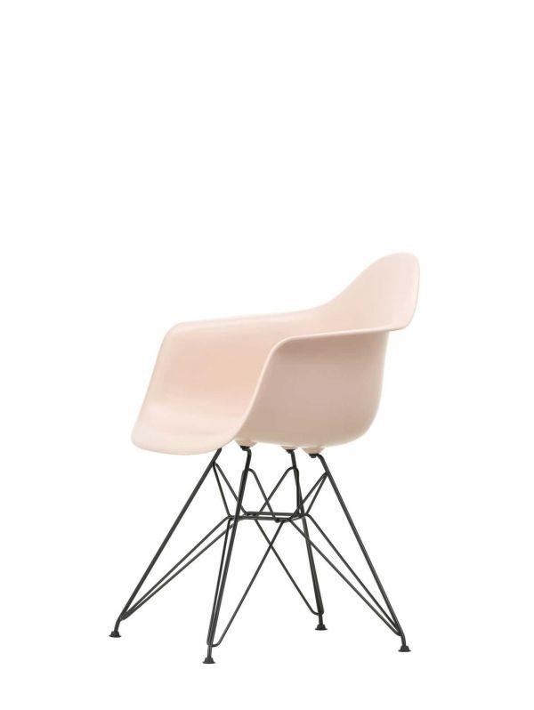 Vitra Eames DAR stoel zwart gepoedercoat onderstel, nieuwe kleuren