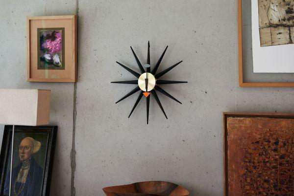 Vitra Sunburst Clock klok Black Collection