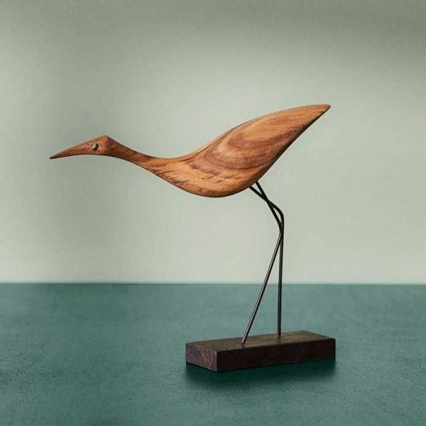 Warm Nordic Beak Bird, Low Heron