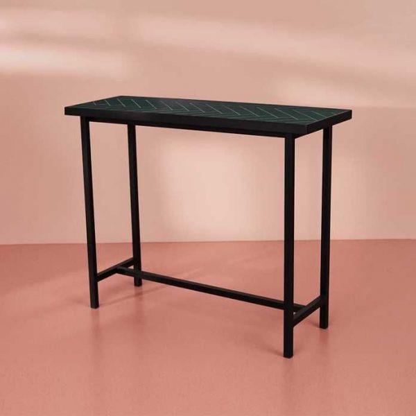 Warm Nordic Herringbone Console Table