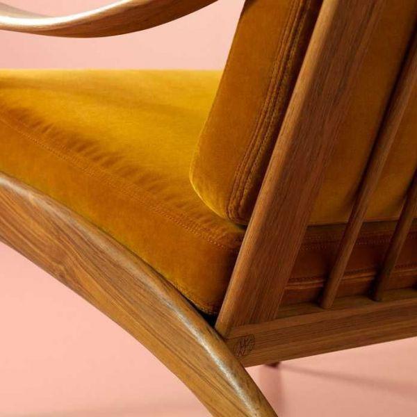 Warm Nordic Lean Back fauteuil teak