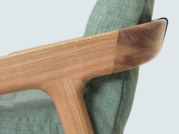 Zeitraum Friday fauteuil eiken frame, Jepard 1377 leer