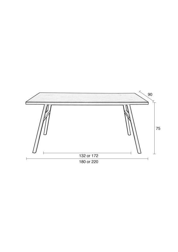 Zuiver Seth tafel 180x90