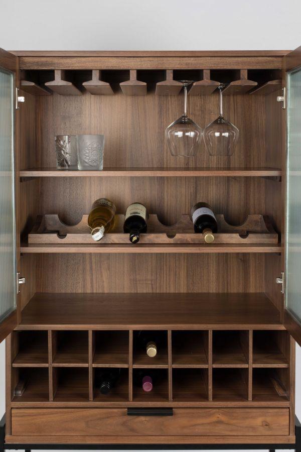 Zuiver Travis wijnkabinet vitrinekast